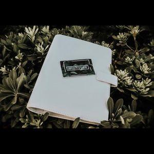 A5 white planner binder